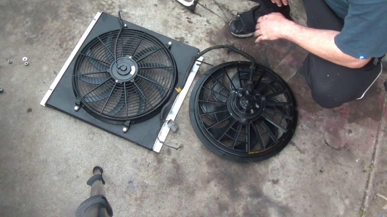 medium resolution of early bronco volvo taurus fan conversion with holley efi fan output