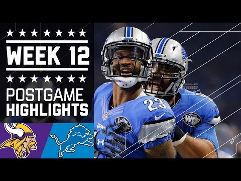 Vikings vs. Lions (Week 12) | Game Highlights | NFL on Thanksgiving