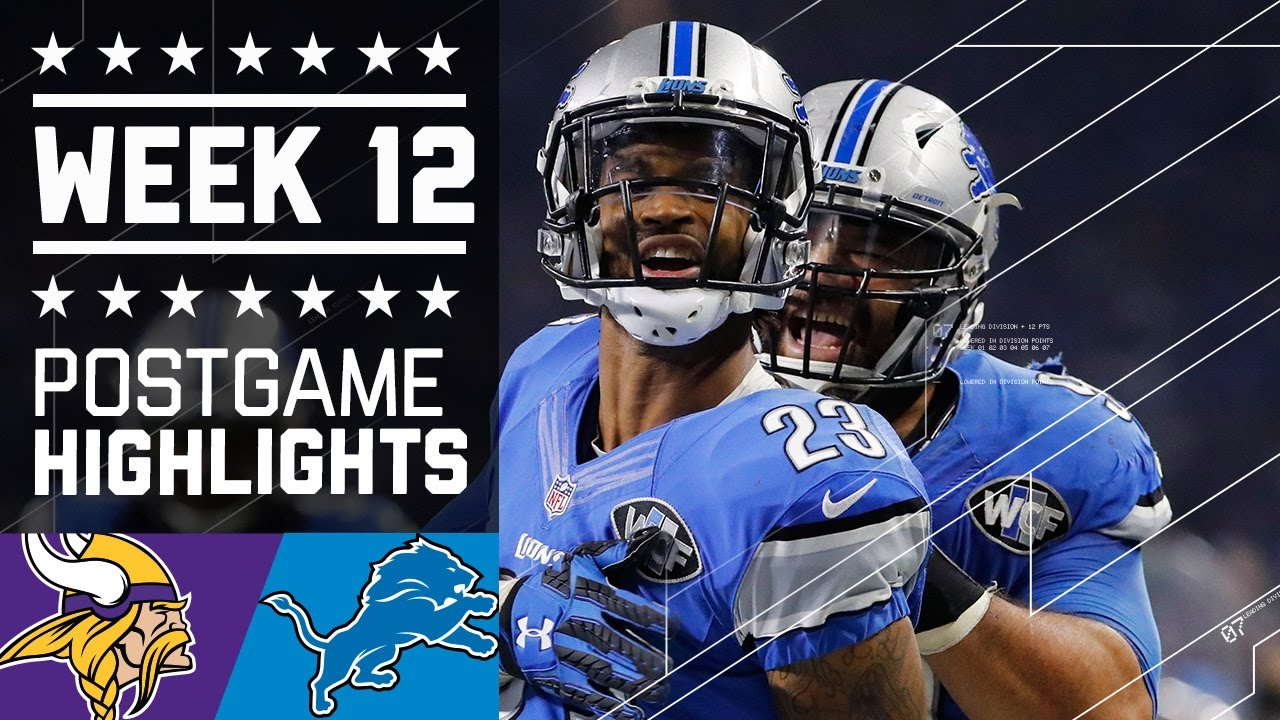 ce523a1a Vikings vs. Lions | NFL on Thanksgiving Week 12 Game Highlights ...
