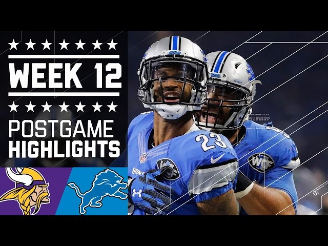 Vikings vs. Lions | NFL on Thanksgiving Week 12 Game Highlights