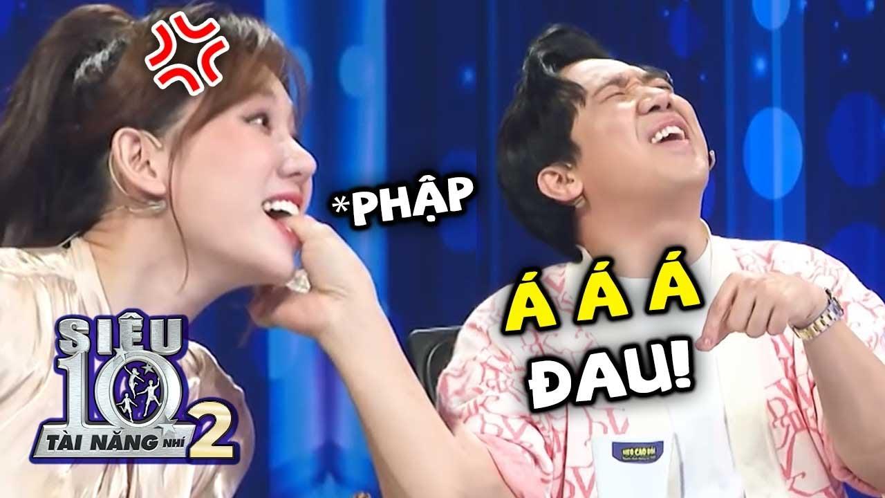 Trấn Thành đút Hari Won ăn 'SỖ SÀNG' liền bị CẮN VÀO TAY khiến cả trường quay cười ngất | Tập 6