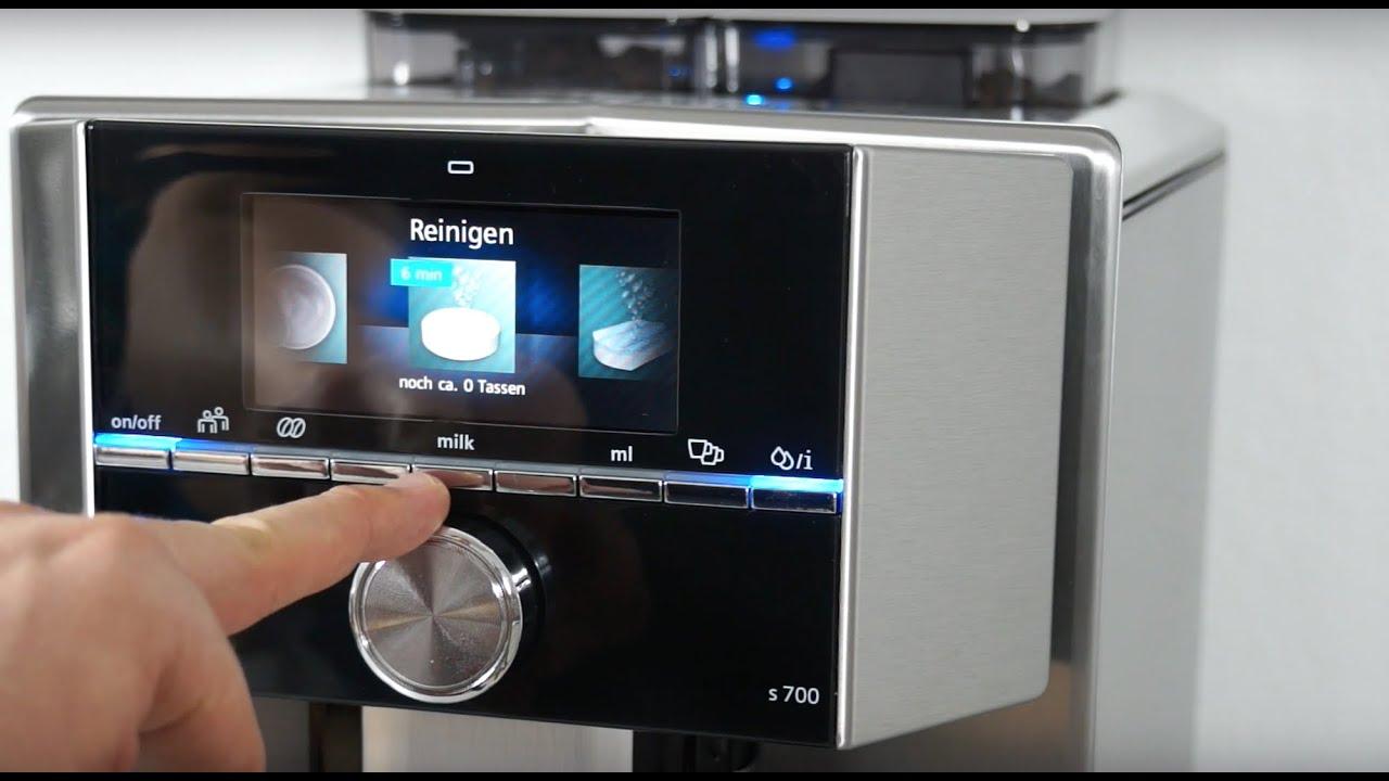 Siemens Eq 9 S700 Reinigung Mit Dem Reinigungsprogramm Youtube