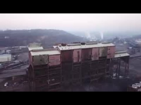 Drone Footage Of Implosion Of Former Weirton Steel Basic Oxygen Plant.