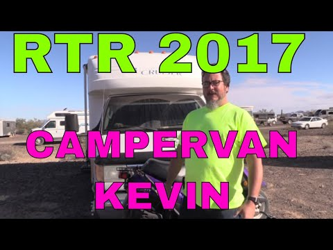 Rubber Tramp Rendezvous 2017 in Quartzsite AZ (RTR)...Meet Campervan Kevin....RVerTV