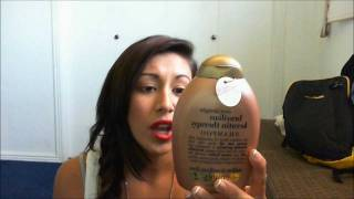 Organix ever straight brazilian Keratin Therapy shampoo & flat iron spray review