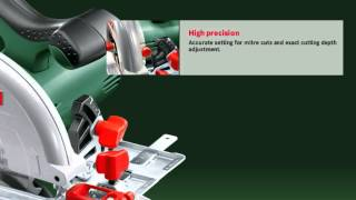 Features Of: The Bosch PKS 55 A Hand-Held Circular Saw