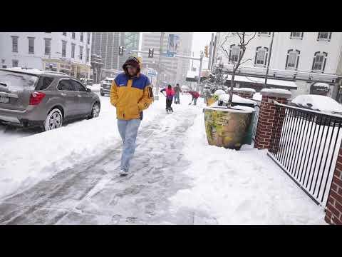 A Snowy Winter Walk In Harrisburg, Pa.