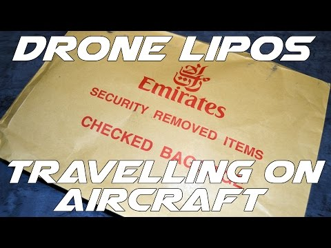 Drone LIPO batteries and airports / air travel