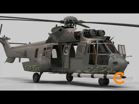 CMetricstudio3D JASA PEMBUATAN ANIMASI (ASSEMBLY-PART 3D ANIMATION Helicopter EC 275)