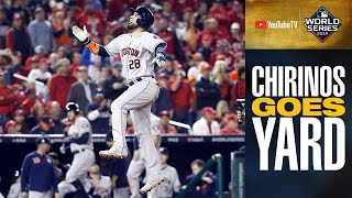 Robinson Chirinos LAUNCHES home run to extend Astros' lead in World Series Game 4 | MLB Highlights