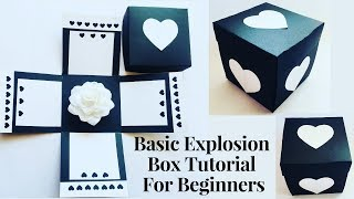 Explosion Box Tutorial For Beginners | DIY Explosion Box For Birthday / Anniversary | Easy Tutorial