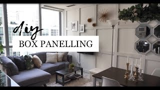 Tiny Apartment Wall Decoration Idea | How to Decorate White Walls | No Damage DIY Box Wall Paneling
