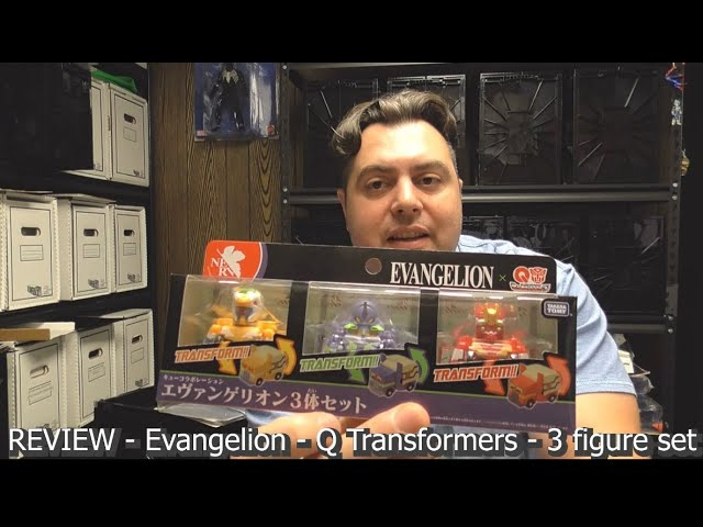 REVIEW - Evangelion - Q Transformers - 3 figure set collaboration by Takara Tomy
