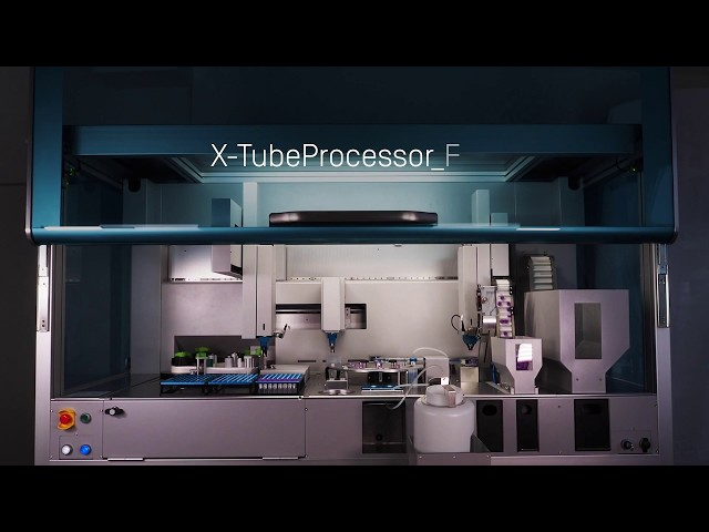 HTI X-TubeProcessor_Flex - Automated capping, filling, labelling of tubes