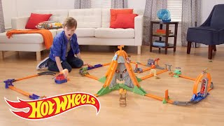 Hot Wheels Track Builder Volcano Blast Demo | Hot Wheels