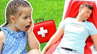 Доктор Плюшева - набор Доктор для Детей/ Играем с папой. Ясмин придумала как стать врачом