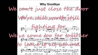 Peabo bryson - why goodbye instrumental lyrics