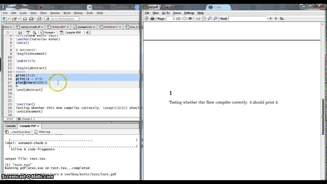 LaTeX Tutorial 10b: LaTeX + R, knitr