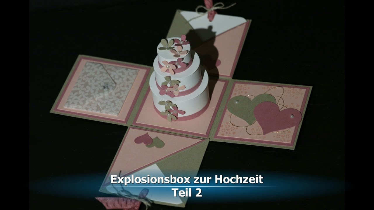 Explosionsbox Hochzeit Basteln
