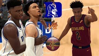 Can the Duke Blue Devils Basketball Team Beat the Cleveland Cavaliers? - NBA 2K19 NCAA Mod