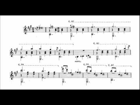 Francisco Tarrega - Gran vals (audio + sheet music)