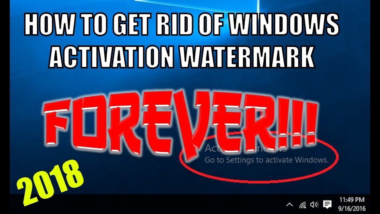 how to disable activate windows watermark in windows 10