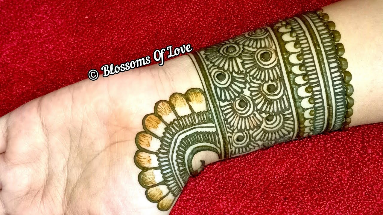 Mehndi Designs Front Side Easy
