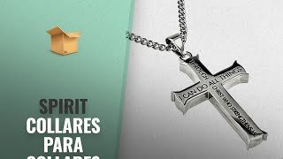 Top 10 Ventas Spirit 2018: Philippians 4:13 Cross Silver Necklace Stainless Steel Christian Jewelry