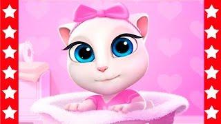 Кошка Анжела. Мультик Про Котов и Кошек для девочек. Кошка Анжела В Ванной - мультики игры для детей