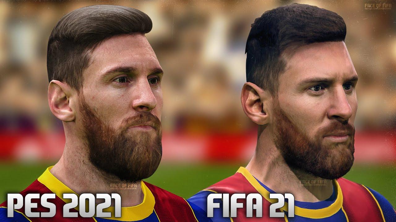FIFA 21 vs PES 2021 - FC Barcelona Player Faces Comparison - YouTube