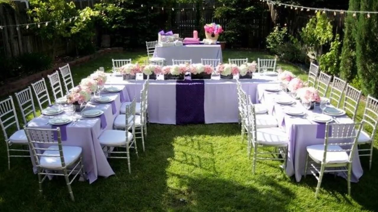 Backup Plans For Your Outdoor Wedding: [Modern Backyard] Backyard Wedding Ideas On A Budget