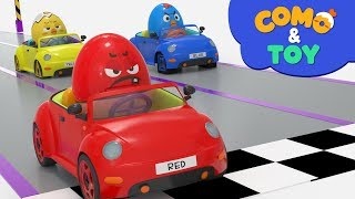 Como and Toys   Tire Shop   Learn colors and words   Cartoon video for kids   Como Kids TV