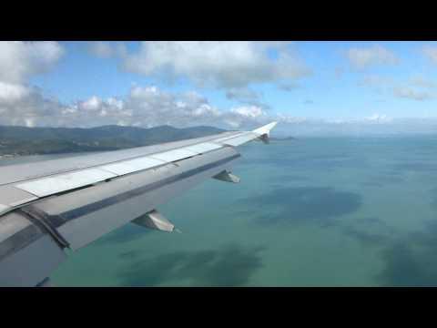 Bangkok Airways A319 HS-PGZ landing Koh Samui