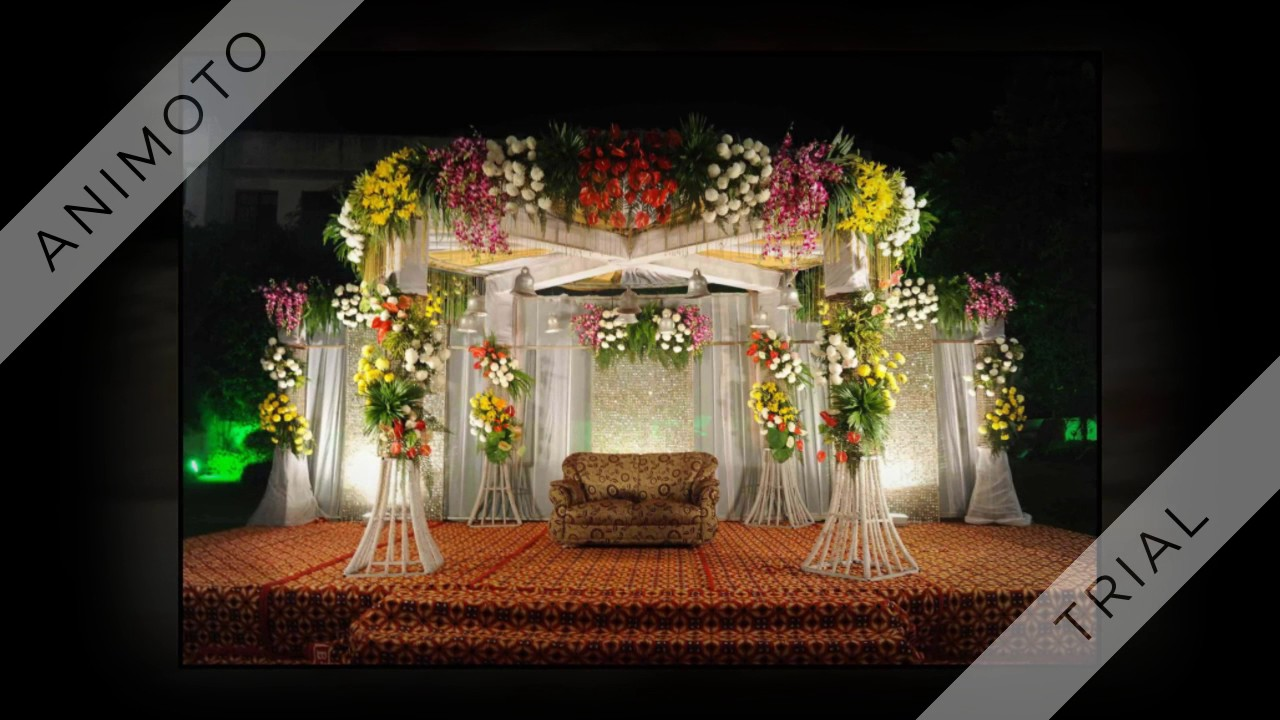 Best 10 Ideas For Indian Marriage Stage Decorations Youtube