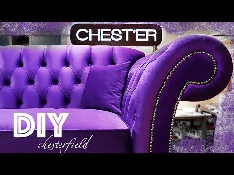 Изготовление дивана Chesterfield своими рукамиЧАСТЬ 1 DIY Making your own Chesterfield sofa PART 1
