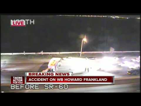 Accident on WB Howard Frankland