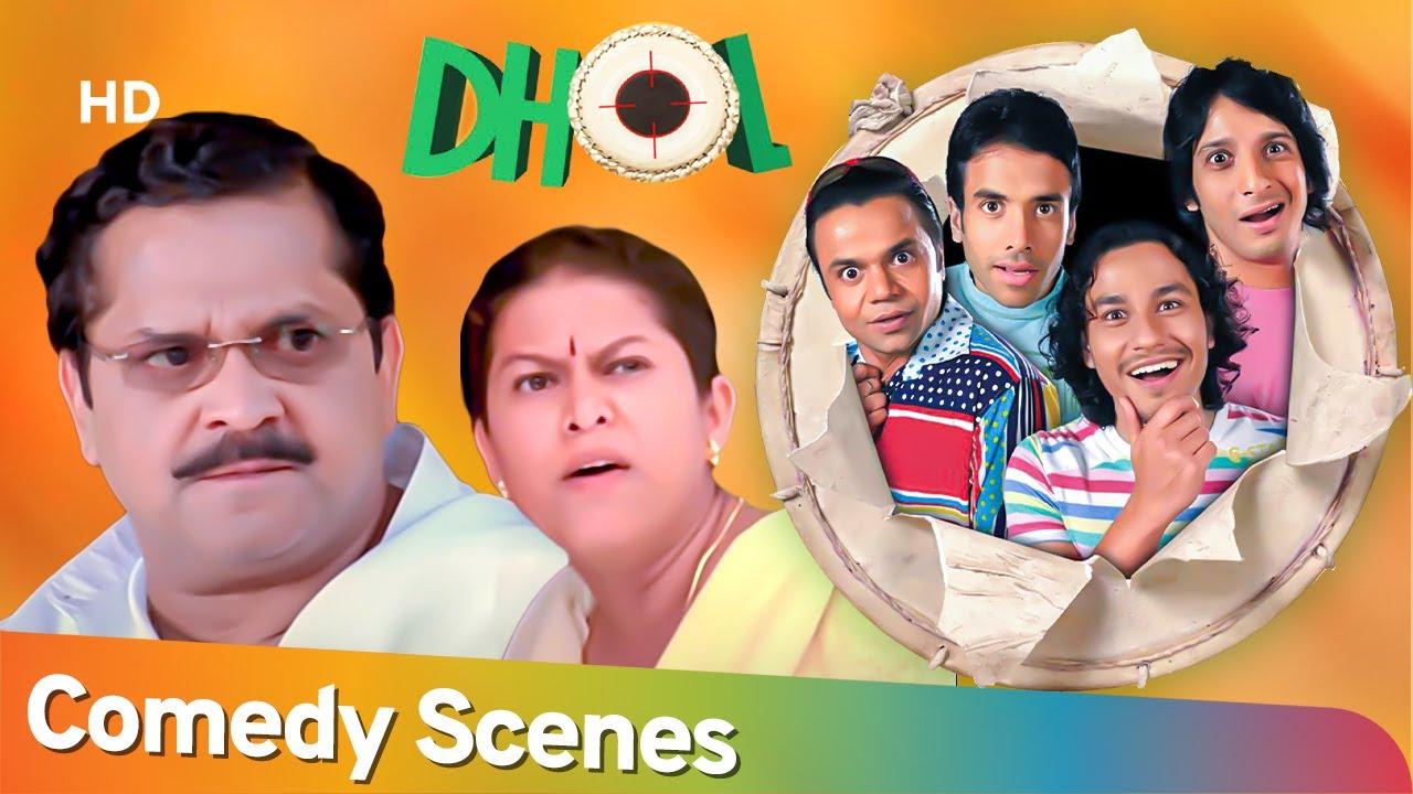तू मरेगा नहीं .. तू सड़ेगा Best Hindi Comedy Scenes  Dhol - Rajpal Yadav - Sharman Joshi -Kunal Khemu