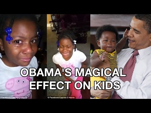 Obama and Kids: Makes Girl CRY cause he won't be President forever in Facebook video