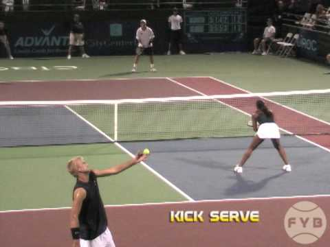 Comparing Tennis Serves - Flat Serve vs. Kick Serve