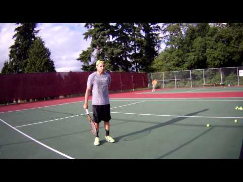 Stepping into my Forehand lesson with Ryan - June 9 2014