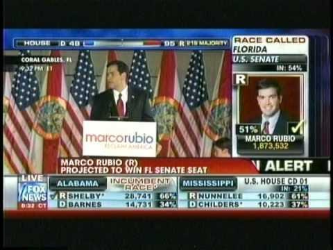 Marco Rubio wins Flordia Republicans GOP Midterm Election 2010