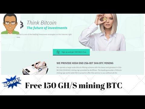 NEW CLOUD MINING,Get Free 150Gh Mining BTC, Min Withdrwal 0.0001 Btc