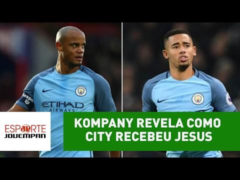 Surpreendente! Kompany revela como City recebeu Gabriel Jesus