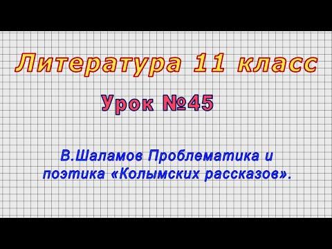 Литература 11 класс (Урок№45 - В.Шаламов Проблематика и поэтика «Колымских рассказов».)