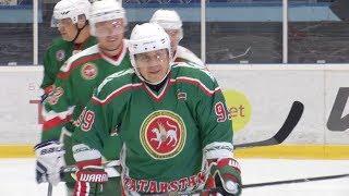 Рустам Минниханов стал лучшим игроком товарищеского матча Татарстан - Чехия