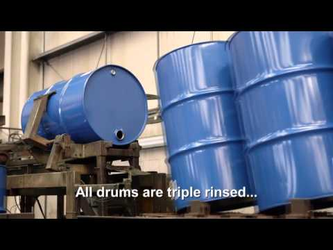 complete steel drum reconditioning system youtube. Black Bedroom Furniture Sets. Home Design Ideas