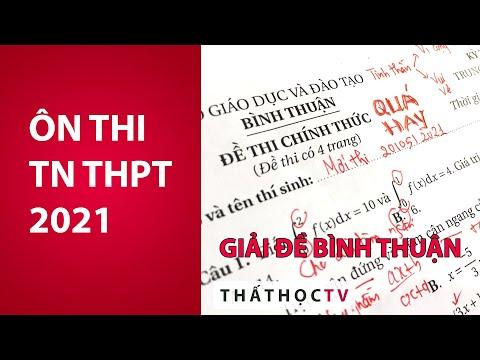Giải Đề Thi Thử Tốt Nghiệp THPT 2021 Môn Toán Sở Bình Thuận