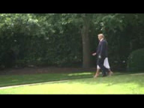 Trump talks Esper, China, Iran on way to Florida