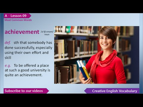 Learn English Vocabulary - Most Common Words in English