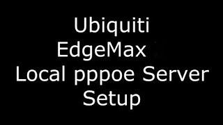 Ubiquiti EdgeMax EdgeRouter X pppoe local network server setup